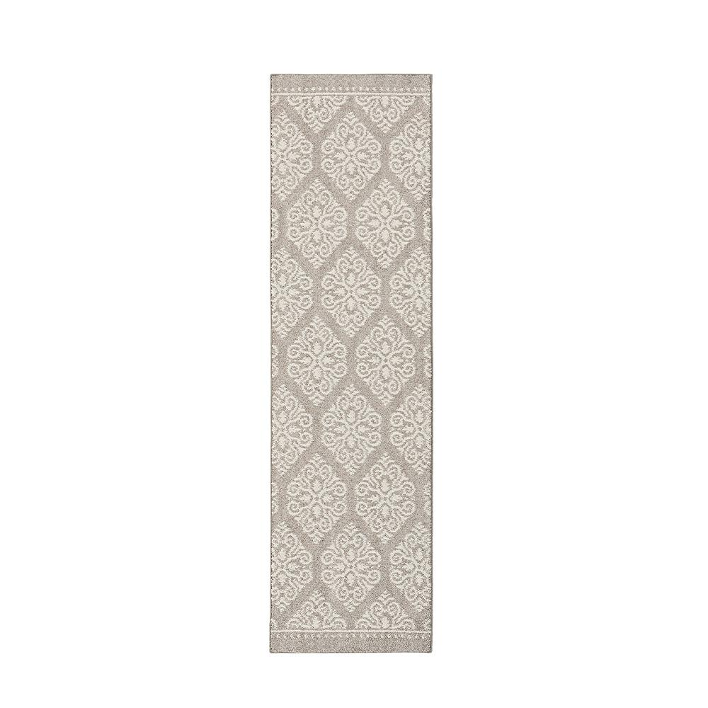 Home decorators collection taurus grey cream 2 ft x 7 ft for Home decorators rug runners