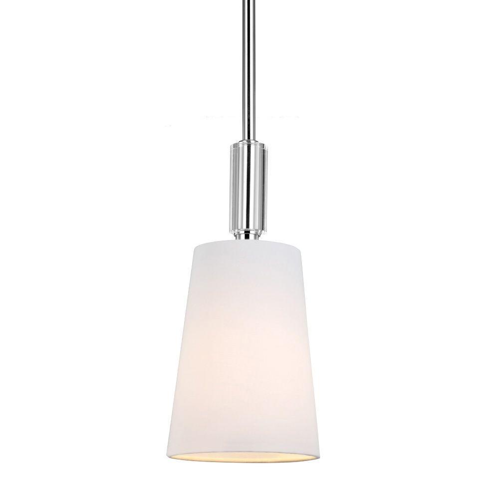 Feiss Lismore 1-Light Polished Nickel Mini Pendant