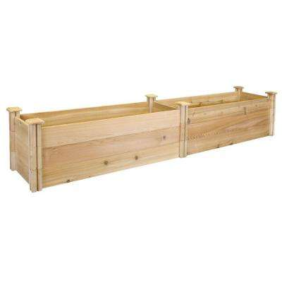 16 in. x 96 in. x 16.5 in. Premium Cedar Raised Garden Bed