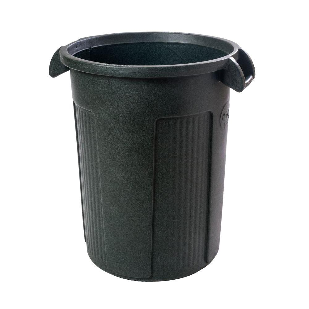 Toter 44 Gal. Dark Green Round Trash Can