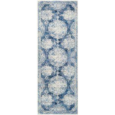 Agnetha Dark Blue 3 ft. x 7 ft. Runner Rug