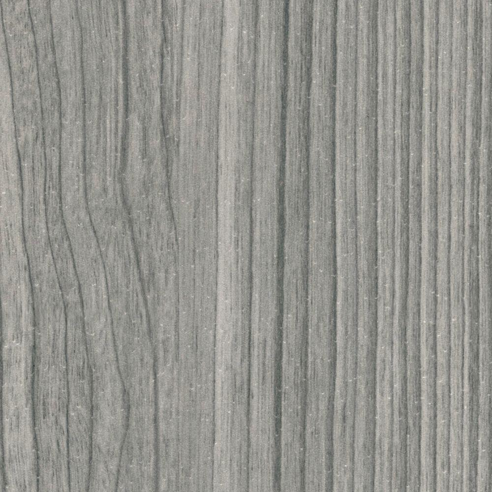 TopTile Castle Gray Woodgrain Ceiling and Wall Plank - 5 in. x 7.75 in. Take Home Sample
