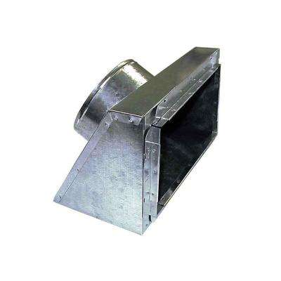 8 in. x 8 in. to 6 in. Slant Top Insulated Register Box with Tabs