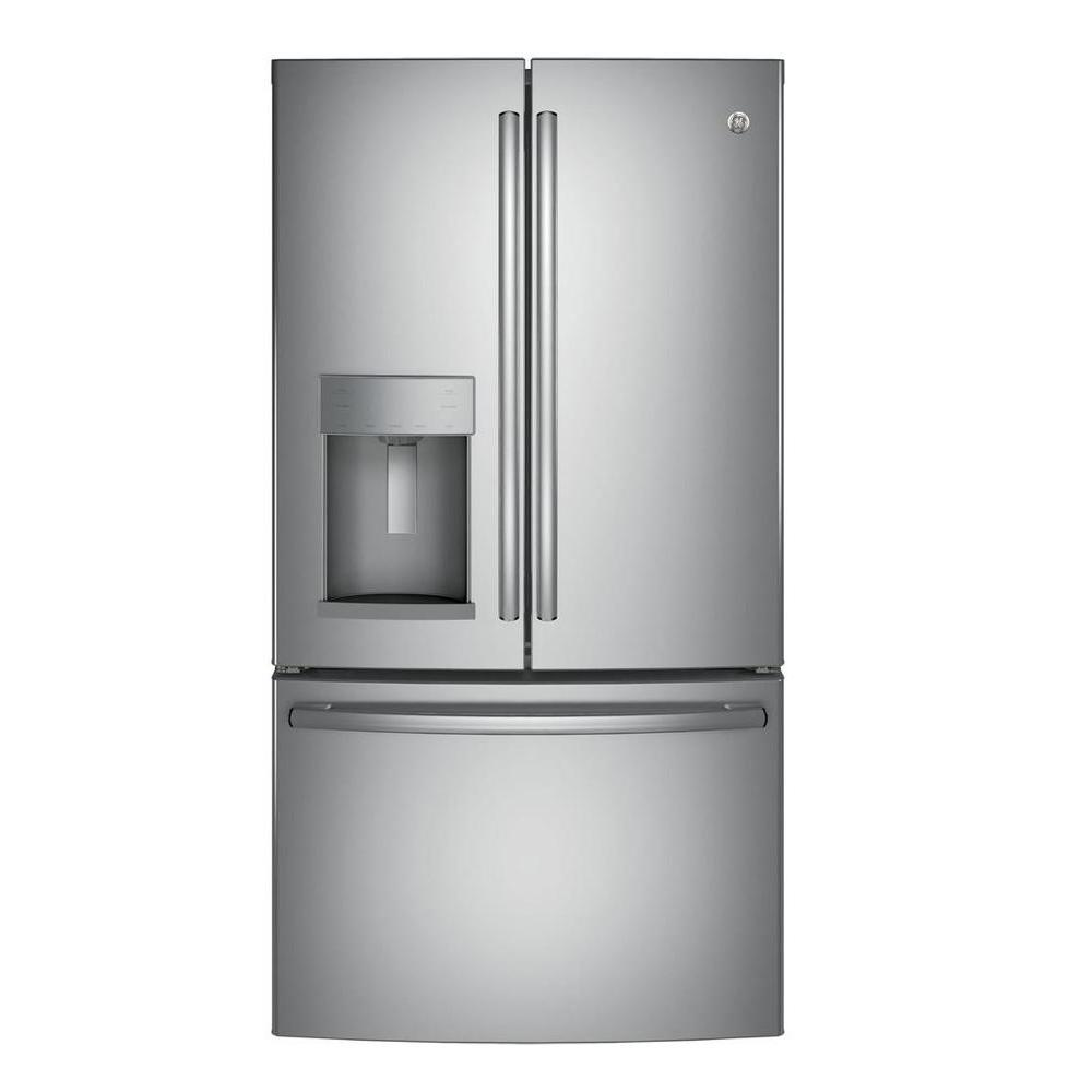 Design Ge Slate Refrigerator ge 22 2 cu ft counter depth french door refrigerator in stainless steel