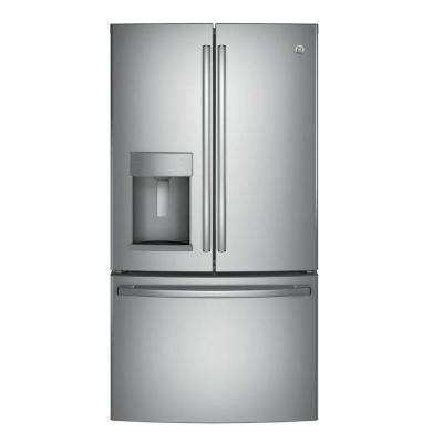 22.2 cu. ft. Counter Depth French Door Refrigerator in Stainless Steel