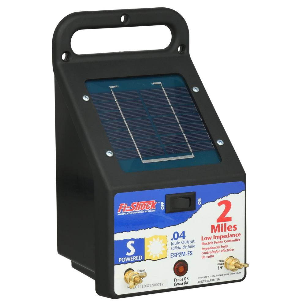 Fi-Shock 2 Mile Solar Powered Electric Fence Energizer