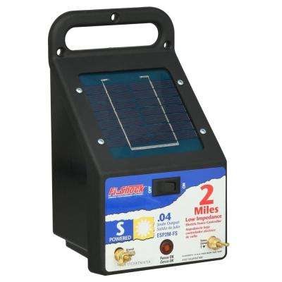 2 Mile Solar Powered Electric Fence Energizer