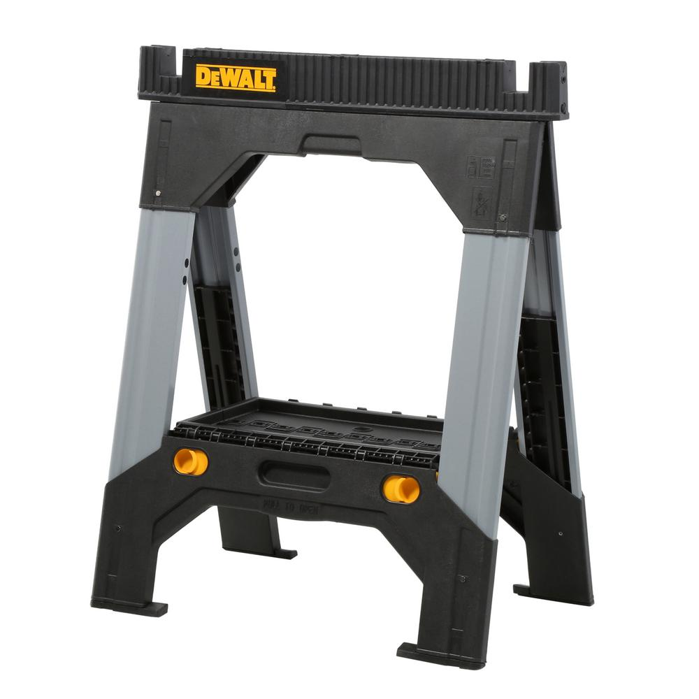 DEWALT 33 in. Folding Sawhorse with Adjustable Metal Legs