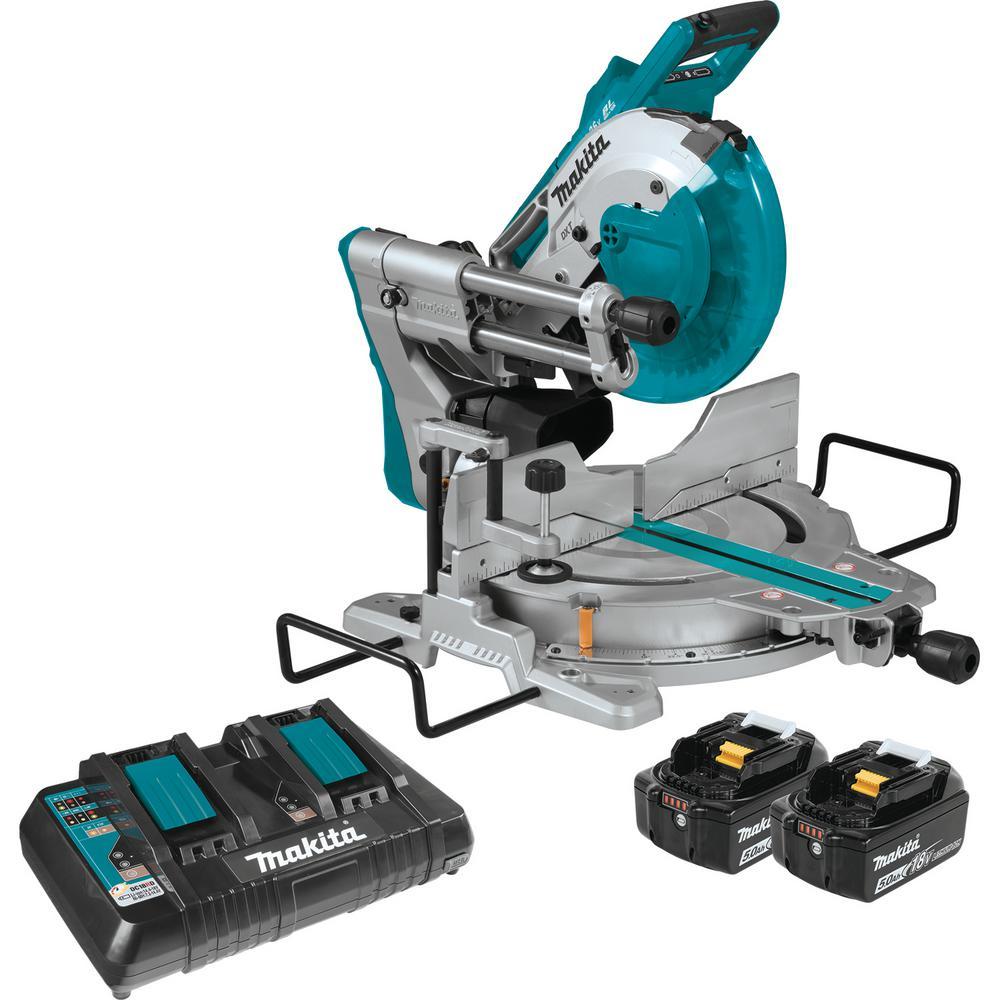 Makita 18-Volt 5.0Ah X2 LXT Lithium-Ion (36V) Brushless ... on makita laser saw, makita sawzall, makita compound saw, makita chain saw, makita panel saw, makita hand saw, makita trimmer, makita power saw, makita worm saw, makita table saw, makita tile saw, makita skill saw, makita jig saw, makita screw gun, makita metal saw, makita mortise saw, makita drill, makita scroll saw, makita reciprocating saw,