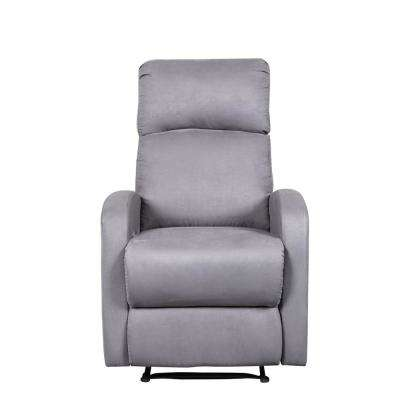 Modern Home Slim Design Grey Microfiber Recliner