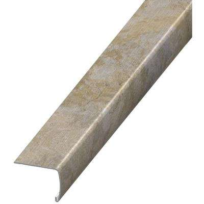 Sannita Neutral 7 mm Thick x 2 in. Wide x 94 in. Length Coordinating Vinyl Stair Nose Molding