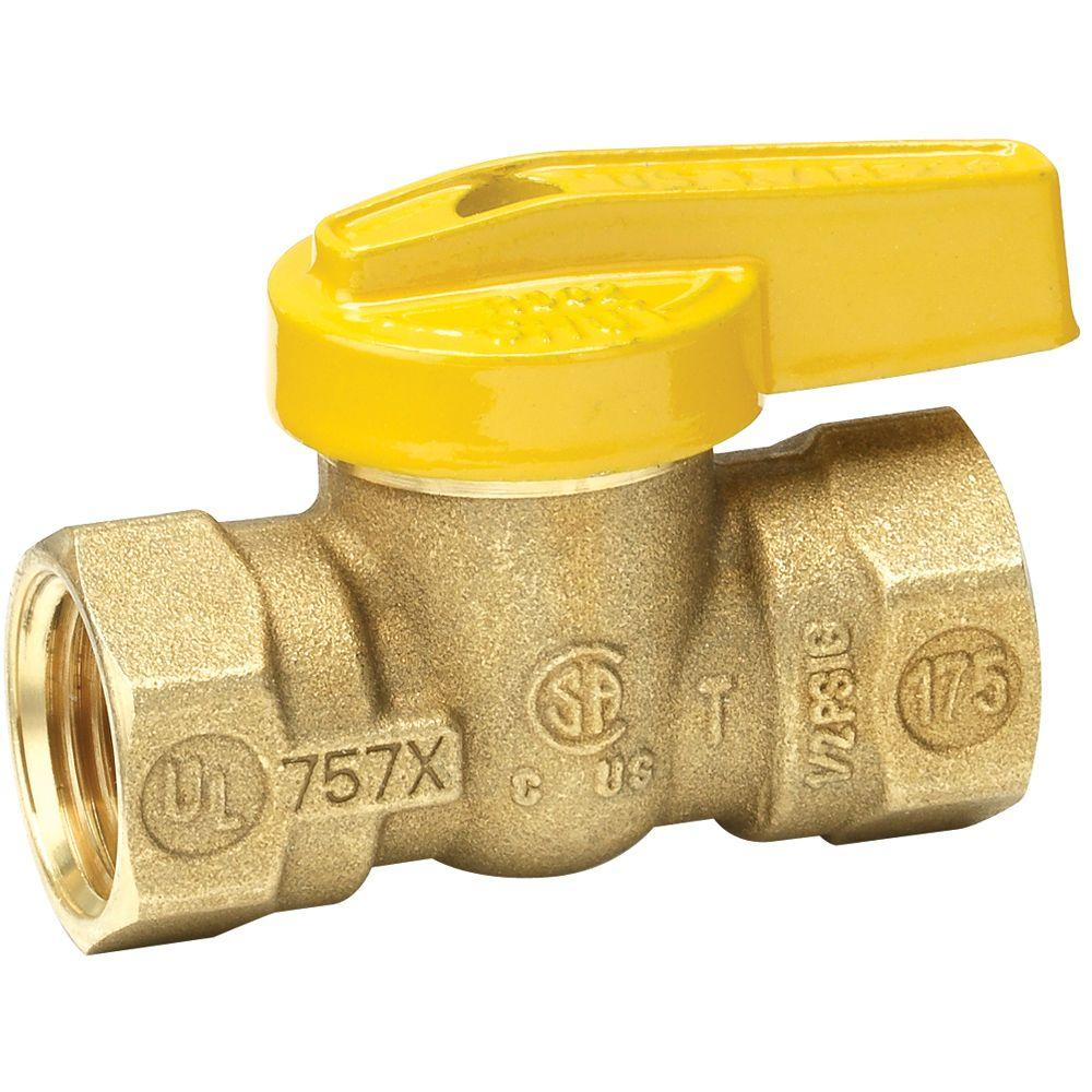 Everbilt 1/2 in. Brass FPT x FPT Lever Handle Gas Ball Valve