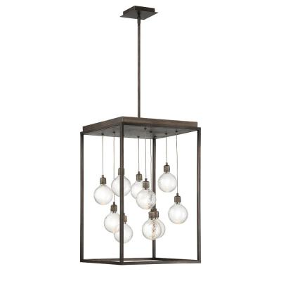 Zarina 18-Watt Bronze Integrated LED Chandelier