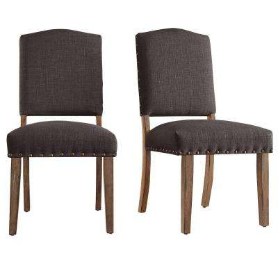 Bunker Hill Charcoal Linen Dining Chair (Set of 2)