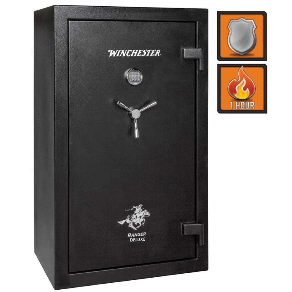 Winchester Safes Ranger Deluxe 31 30-Gun Black Gloss Fire Safe Electronic Lock