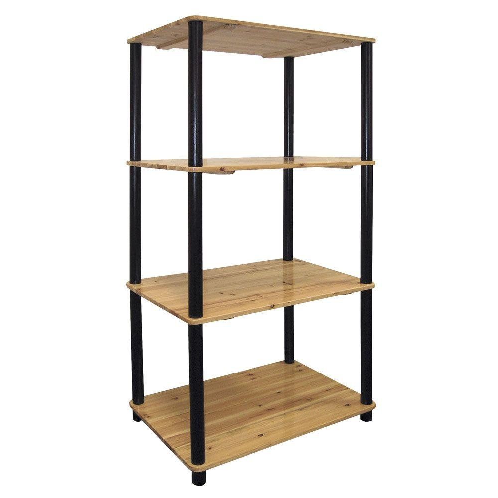 Light Natural Open Bookcase