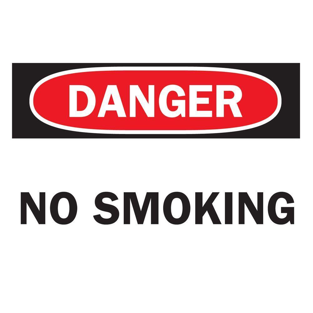 10 in. x 14 in. Aluminum Danger No Smoking Sign