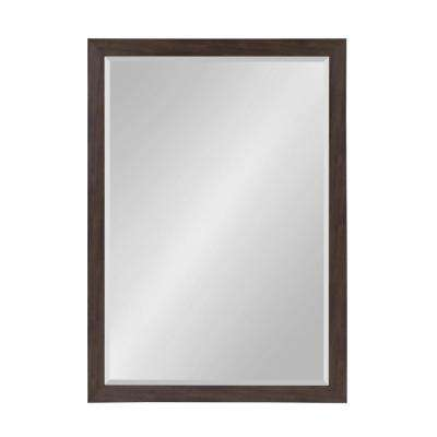 Beatrice Rectangle Walnut Brown Accent Mirror