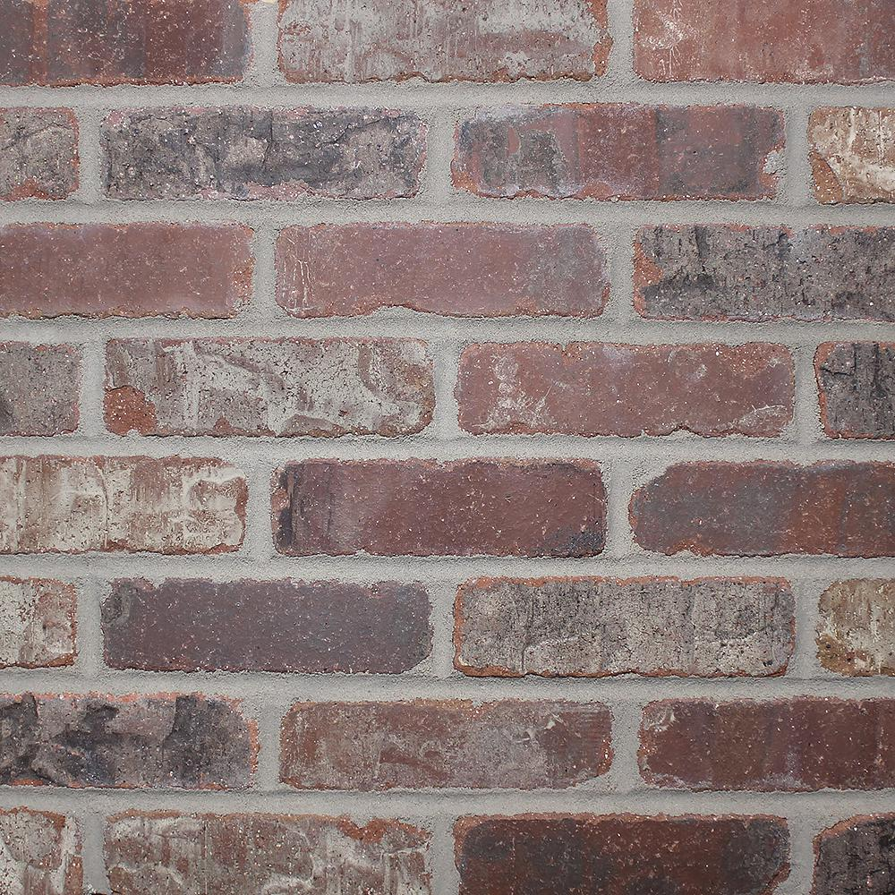 Old Mill Brick Brickwebb Sheets Flats Castle Gate 28 in. x 10.5 in. x 13mm Clay Thin Brick Mesh-Mounted Mosaic Tile (8.7 sq. ft. /case)