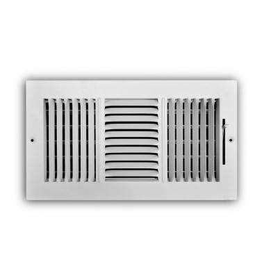 12 in. x 6 in. 3-Way Aluminum Wall/Ceiling Register