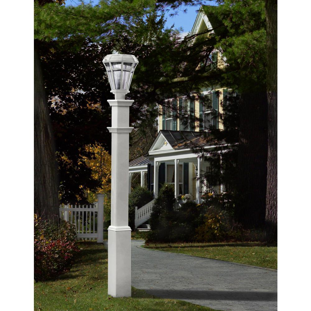 New England Arbors Sturbridge Lamp Post Va94428 The Home Depot