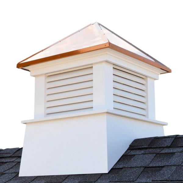 Manchester 42 in. x 54 in. Vinyl Cupola with Copper Roof