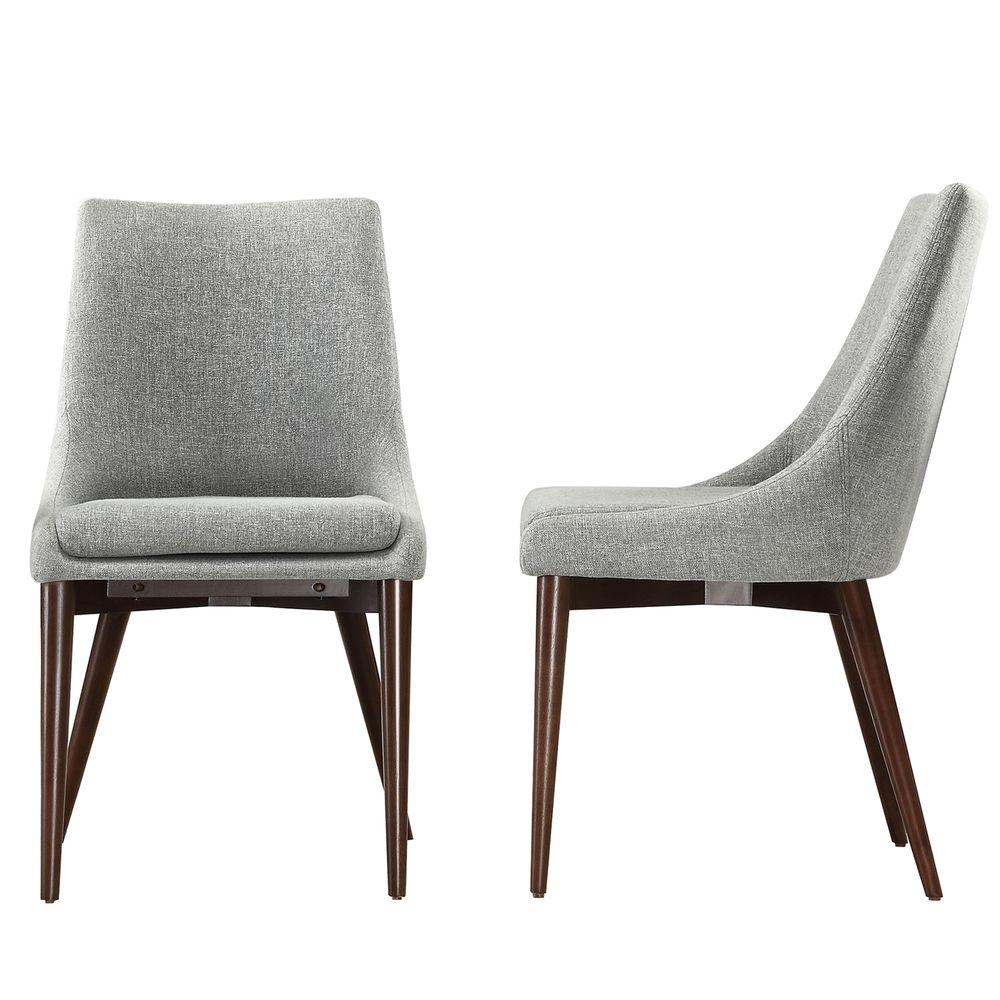 Homesullivan Nobleton Cool Grey Dining Chair Set Of 2