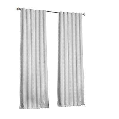 Adalyn Blackout Window Curtain Panel in White - 52 in. W x 95 in. L