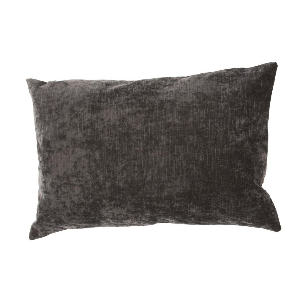 Jaipur Living Luxe Charcoal Gray Poly Decorative Pillow-PLW101657 - The Home Depot