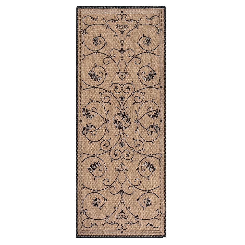 Home Decorators Collection Tendril Natural/Cocoa 2 ft. 3 in. x 7 ft. 10 in. Runner