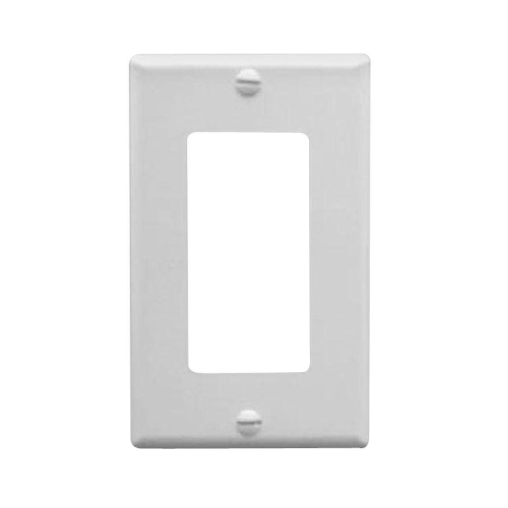 Icc 1 Gang Wall Switch Plate White Icc Ic107f2cwh The Home Depot