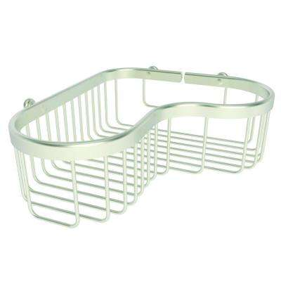 Splashables Large Corner Basket in Satin Nickel