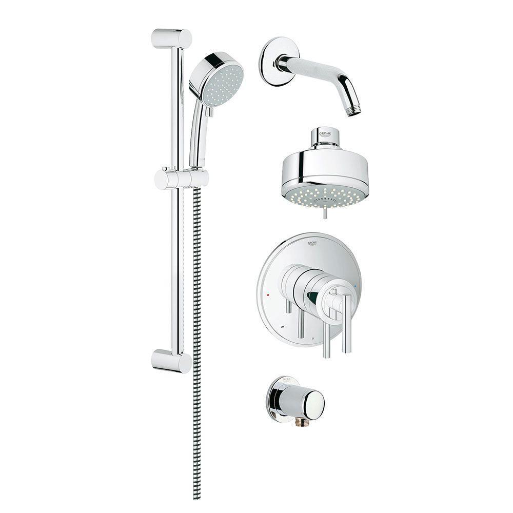 GrohFlex Timeless Dual Function Shower Set 4-Spray Shower System in StarLight Chrome