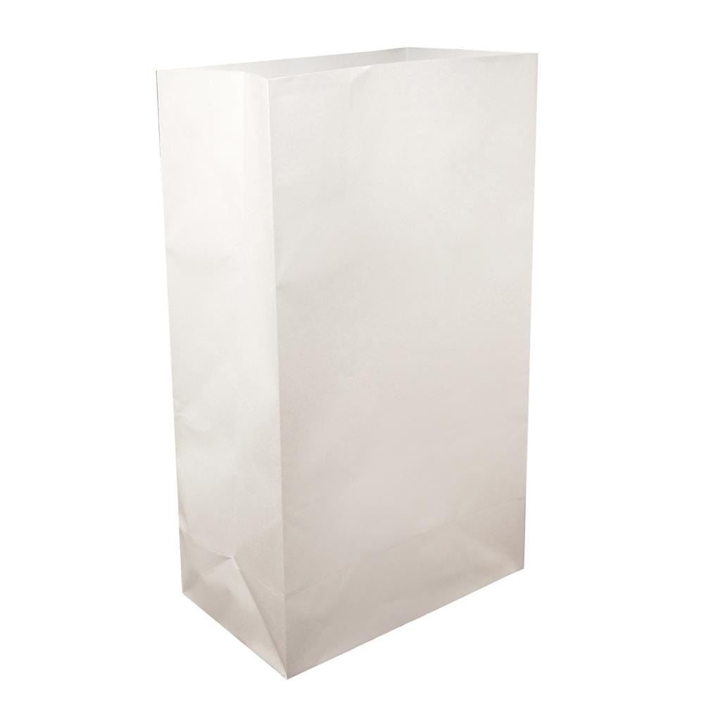 Luminaria Bag 6 in. x 11 in. x 3.5 in. White