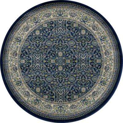 Dexter Florence Navy 8 ft. x 8 ft. Round Area Rug