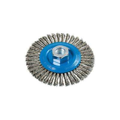 4.5 in. Stringer Bead Brush with Knot-Twisted Wires 5/8 in. - 11 in. Arbor