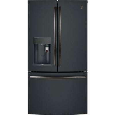 Profile 27.8 cu. ft. Smart French Door Refrigerator with Keurig K-Cup in Black Slate, Fingerprint Resistant