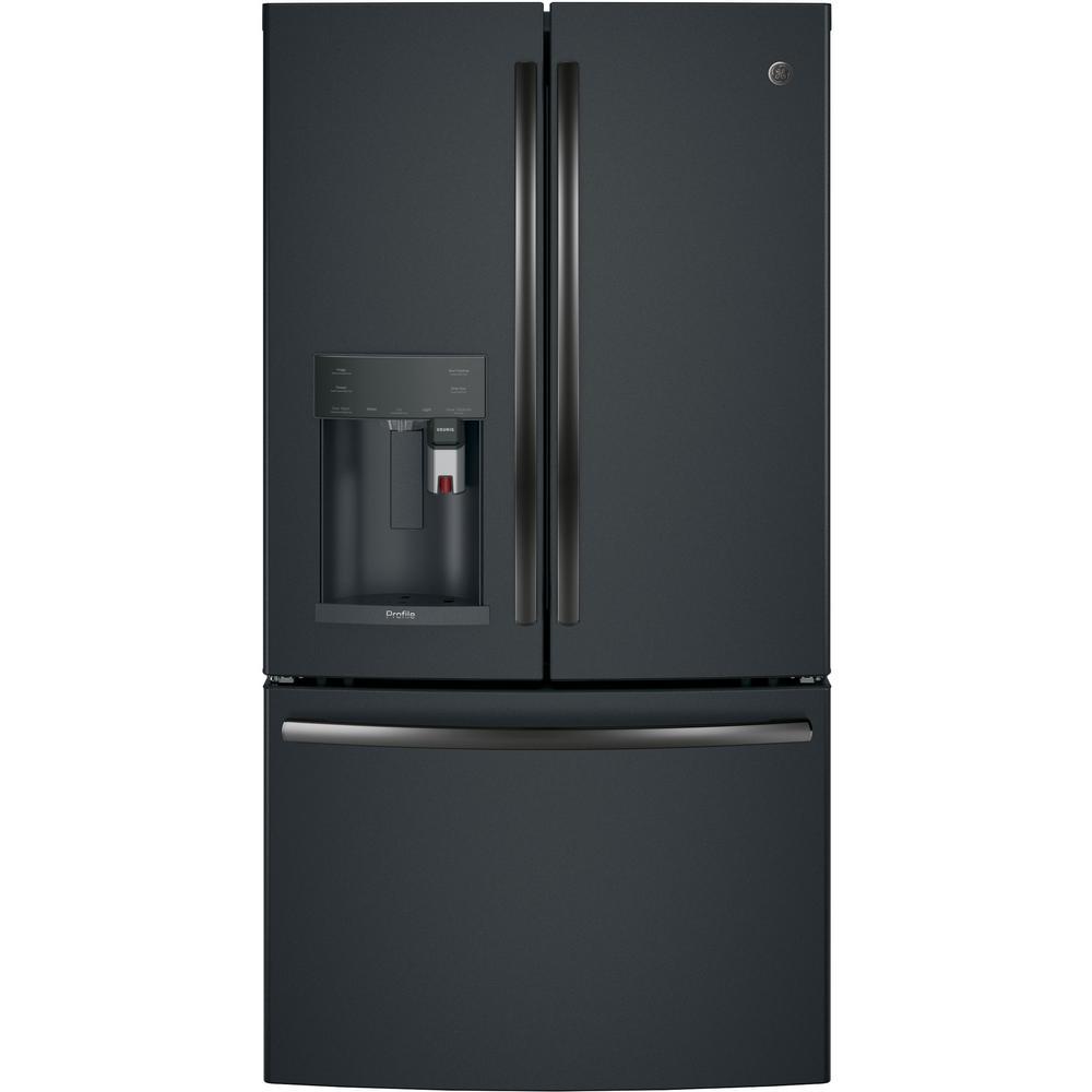 Profile 27.8 cu. ft. Smart French Door Refrigerator with Keurig K-Cup in Black Slate, Fingerprint Resistant