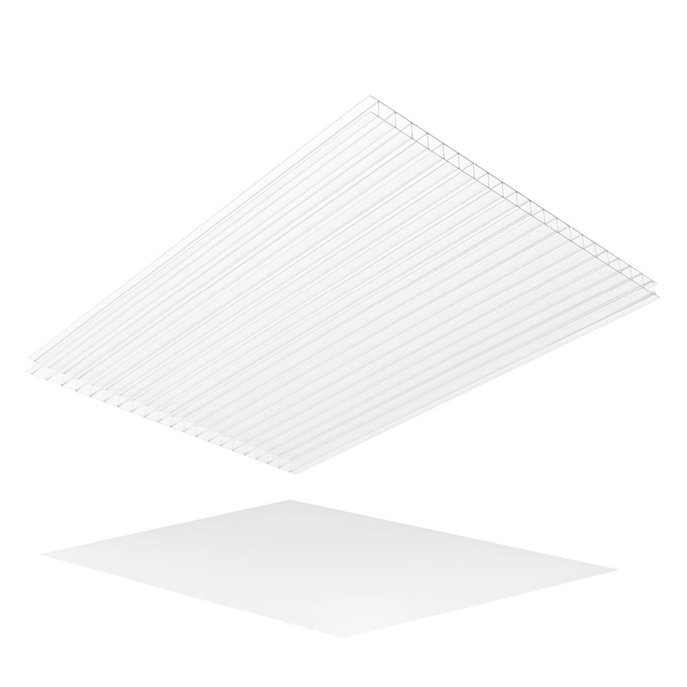 LEXAN Thermoclear 24 in. x 24 in. x 1/4 in. Hammered Glass Multiwall Polycarbonate Sheet (5-Pack)