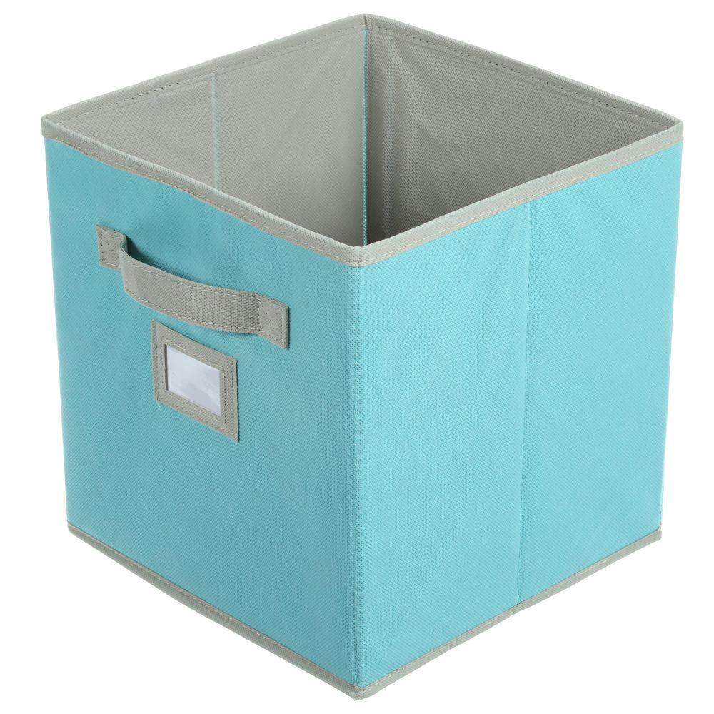 10-1/2 in. x 11 in. Lagoon Blue Fabric Drawer