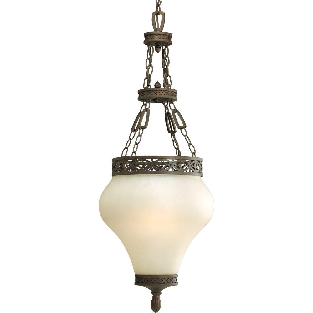 Progress Lighting Sanabria Collection Roasted Java 3-light Foyer Pendant-DISCONTINUED
