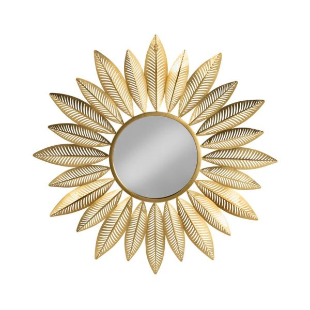 Medium Round Gold Classic Mirror (37.5 in. H x 37.5 in. W)
