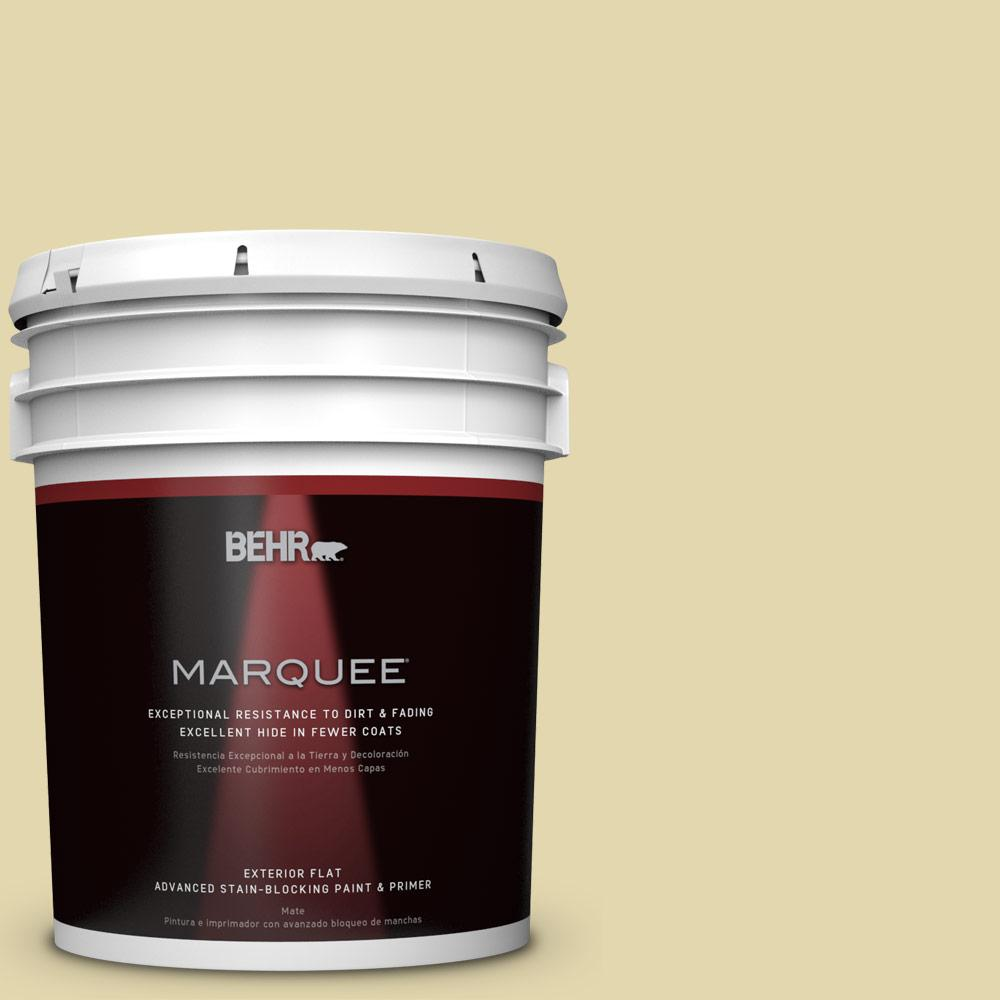BEHR MARQUEE 5-gal. #M310-3 Champagne Cocktail Flat Exterior Paint