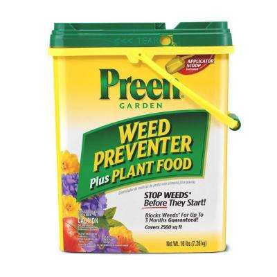 16 lbs. Granular Ready-to-Use Garden Weed Preventer Plus Plant Food