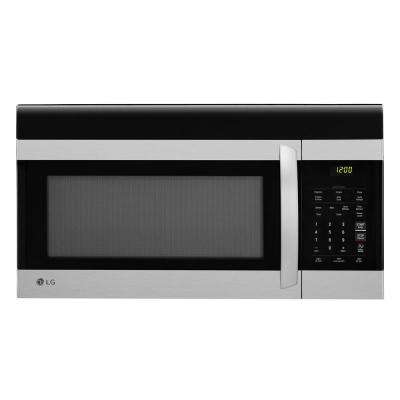 1 7 Cu Ft Over The Range Microwave In Stainless Steel With Easyclean