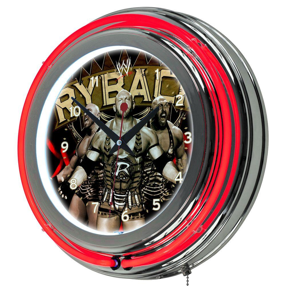 Trademark 14 in. WWE Ryback Double Ring Neon Wall Clock