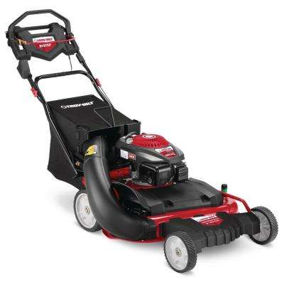 28 in. 195 cc Gas Walk Behind Self Propelled Lawn Mower with High Rear Wheels, 3-in-1 Cutting TriAction Cutting System