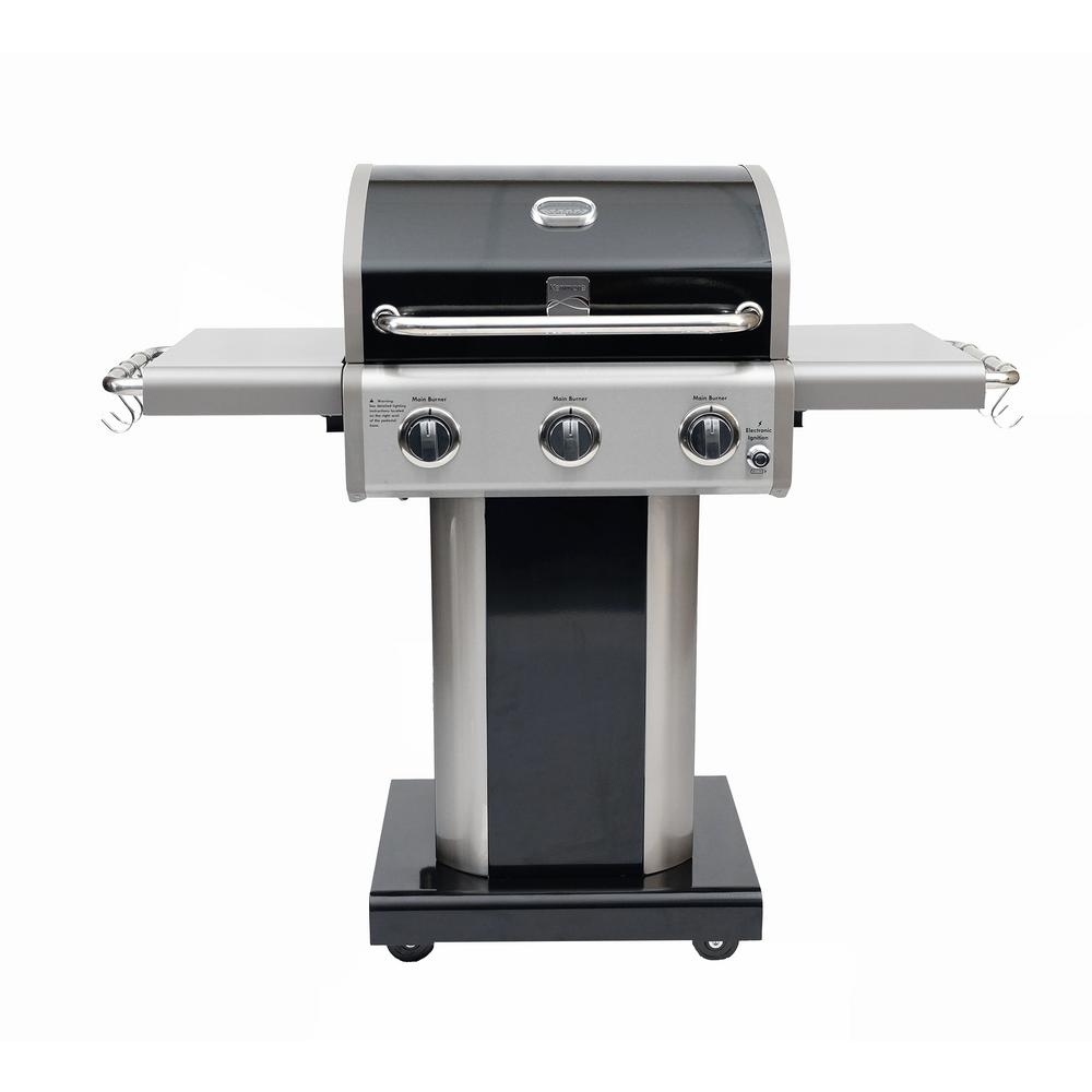 Kenmore 3-Burner Pedestal Grill in Black