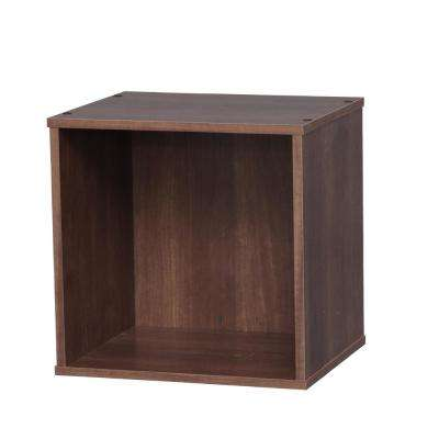 BAKU Brown Modular Wood Cube Box
