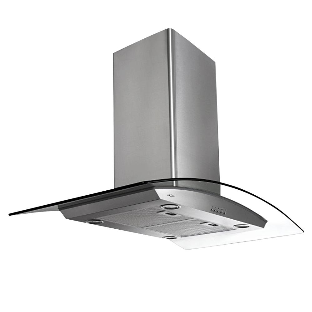 Brezza 30 in. Convertible Island Mount Range Hood with Light in